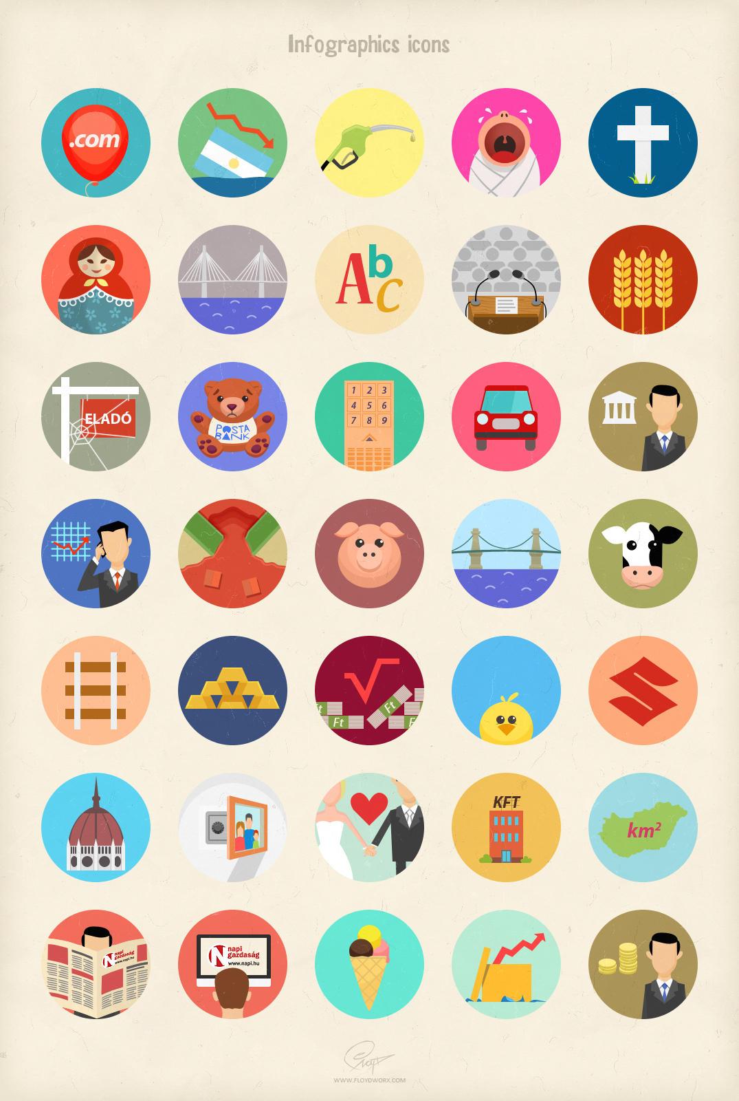 Infographics icons by floydworx