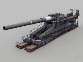 Dora railway artillery by floydworx