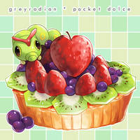 Pocket Dolce 4 - Caterpie by GreyRadian