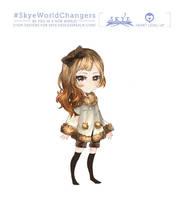 Character Design - SkyeWorldChangers by GreyRadian