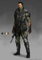Stealth Soldier Character Design by GreyRadian