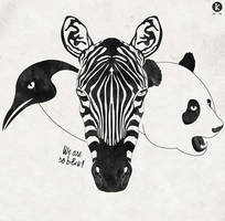 We are so black and white! by Amarelle07