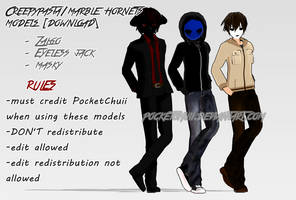 [MMD] Creepypasta/Marble Hornets [DL] by iiPocket