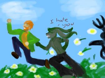 See Luke and Neon run by random-syhn