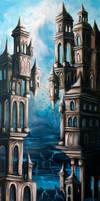 Cite dans les nuages by ArtByAntera