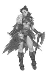 Concept - Female Axer 1 by Warmics