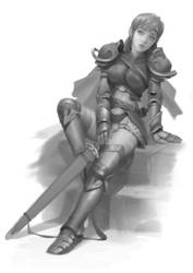 Concept - Female Knight 1 by Warmics