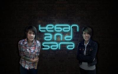 Tegan and Sara and neon by acidburnbaka