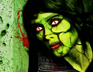 Zombie Tegan Quin by acidburnbaka