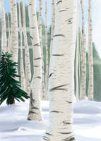 Winter Forest by SacredCandybar