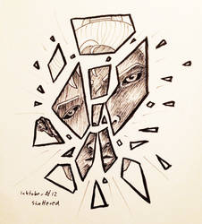 Inktober 12 Shattered by Siobhan68