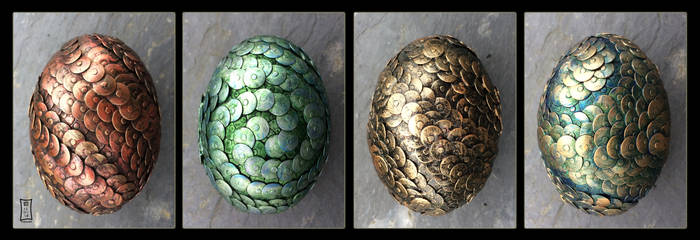 Four Dragoneggs by Siobhan68