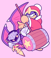 Kirby: Meta Knight and King Dedede by nekozneko