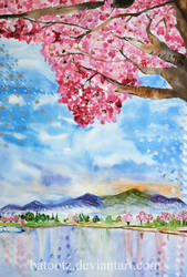 Cherry blossom tree by batootz