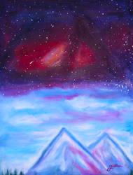 Galaxy Merging Sky by batootz