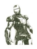 Iron Man Movie Pencil by ncajayon