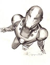 Ultimate Iron Man Pencil 1 by ncajayon