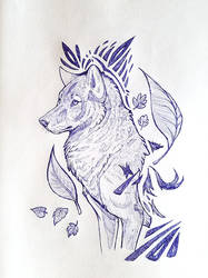 Ballpoint Canine by daanzi