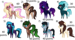 closed - random pony adoptables by aestheticstuffs