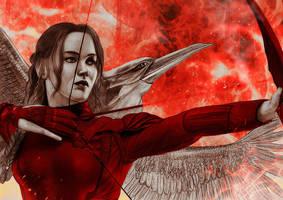 Katniss/Mockingjay by JabberjayArt