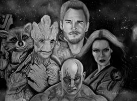 Guardians of the Galaxy by JabberjayArt