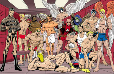 City of Heroes beefcake calendar by lethe-gray