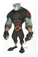 Panthro:Thundercats design by Kravenous
