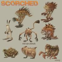 Scorched: Midsize Animals by Kravenous