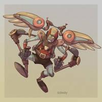 Robot flyer by Kravenous