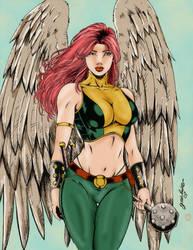 Hawkgirl Colored by ikbarron