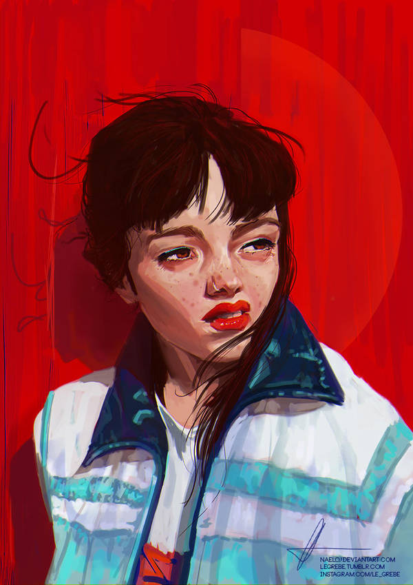 NEON RED BABE by LeGrebe