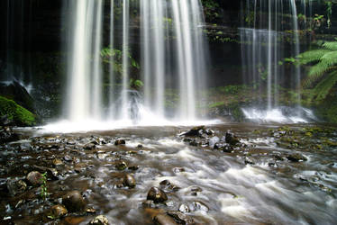 Stock : Waterfall over rocks by Deaths-stock