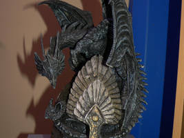 Stock-Dragon and Skull by Deaths-stock