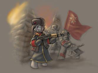 MLP Red ALert Conscript Art by CyrilUnicorn