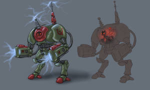 MLP Red Alert - Tesla Trooper Art by CyrilUnicorn