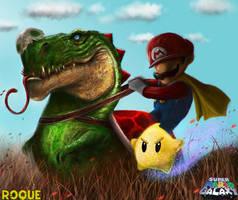 Mario Galaxy by RoqueRobinArt