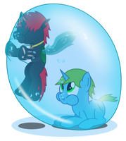Unexpected early bath by BladeDragoon7575