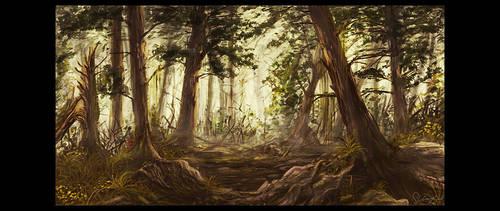 mystic forest by slizgi