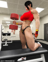 Olga's High-Intensity Workout, stage one by Soviet-Superwoman