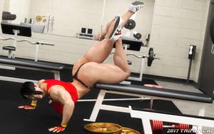 Olga's High-Intensity Workout, stage three by Soviet-Superwoman