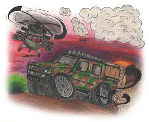 Army Hummer by nizdesign