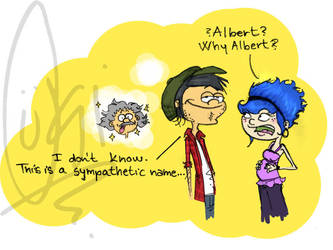 Why Albert by ScribbleNetty
