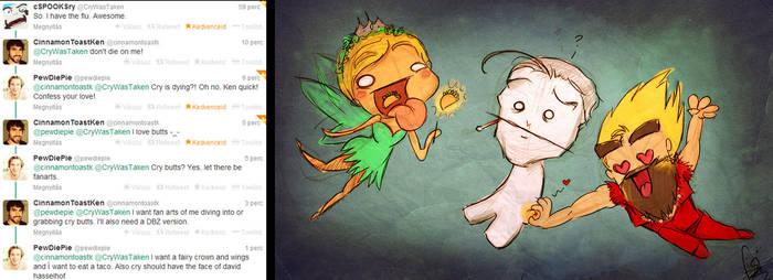 Twitter - PewDiePie, Cryaotic and CinnamonToastKen by ScribbleNetty