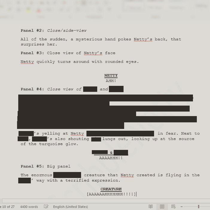 Script - 1.Comic (Prologue:10.page) by ScribbleNetty