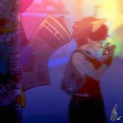 'The Stray Cat' - Teaser art by ScribbleNetty