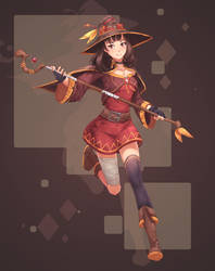 [ Character Design ] Adult Megumin by AidenR0