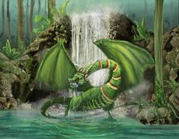 Amazonian Wyvern by jab-brinkli