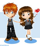 Ron and Hermione_HP by antoZ
