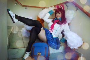 Academy Ahri Cosplay by Kitsune-Raposa