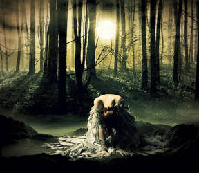crying in the forest / Llorando en el bosque by TheAxelLove